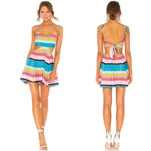 NWT Lovers + Friends Alexandra Stripe Cutout Dress